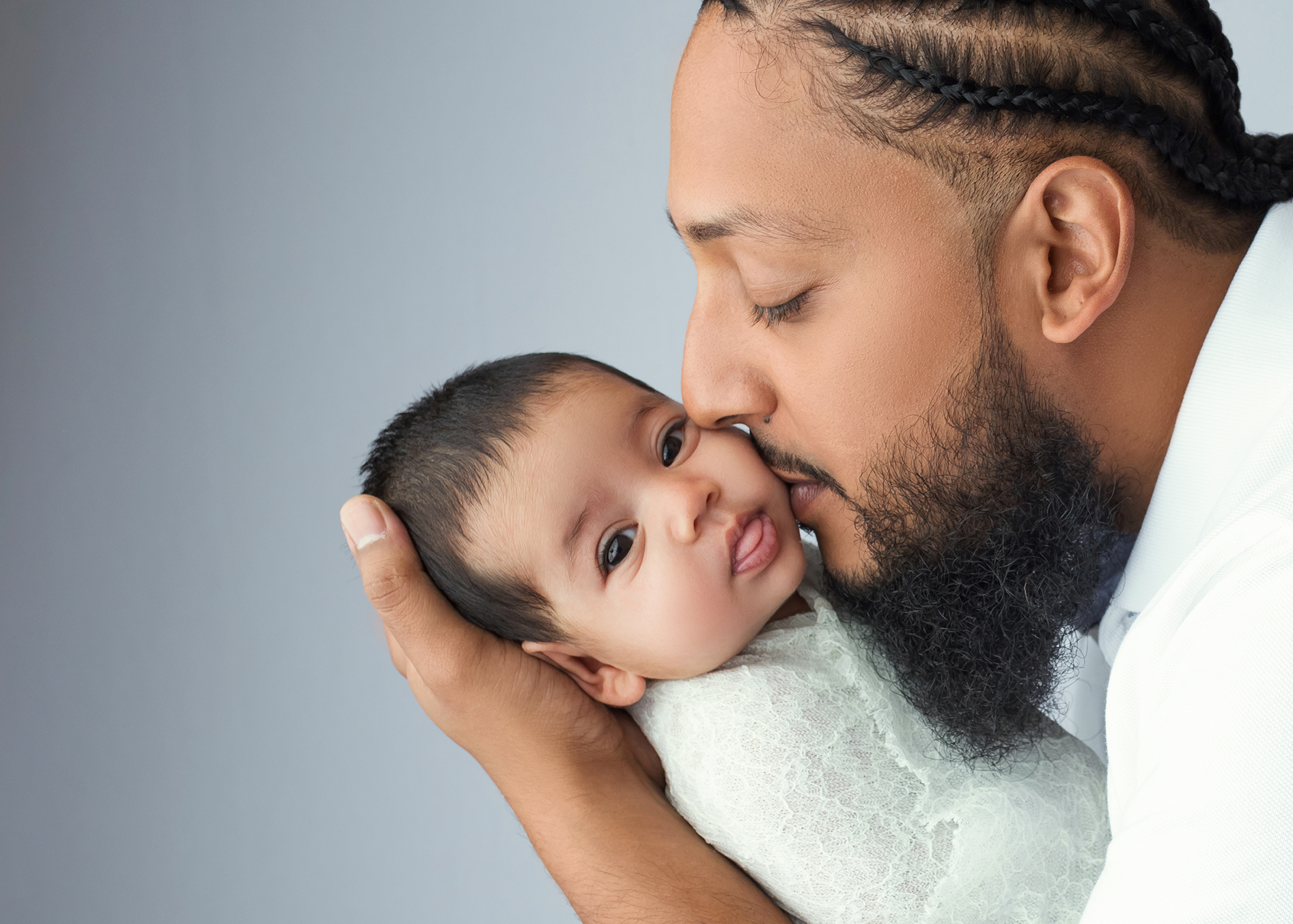 Daddy and baby photography