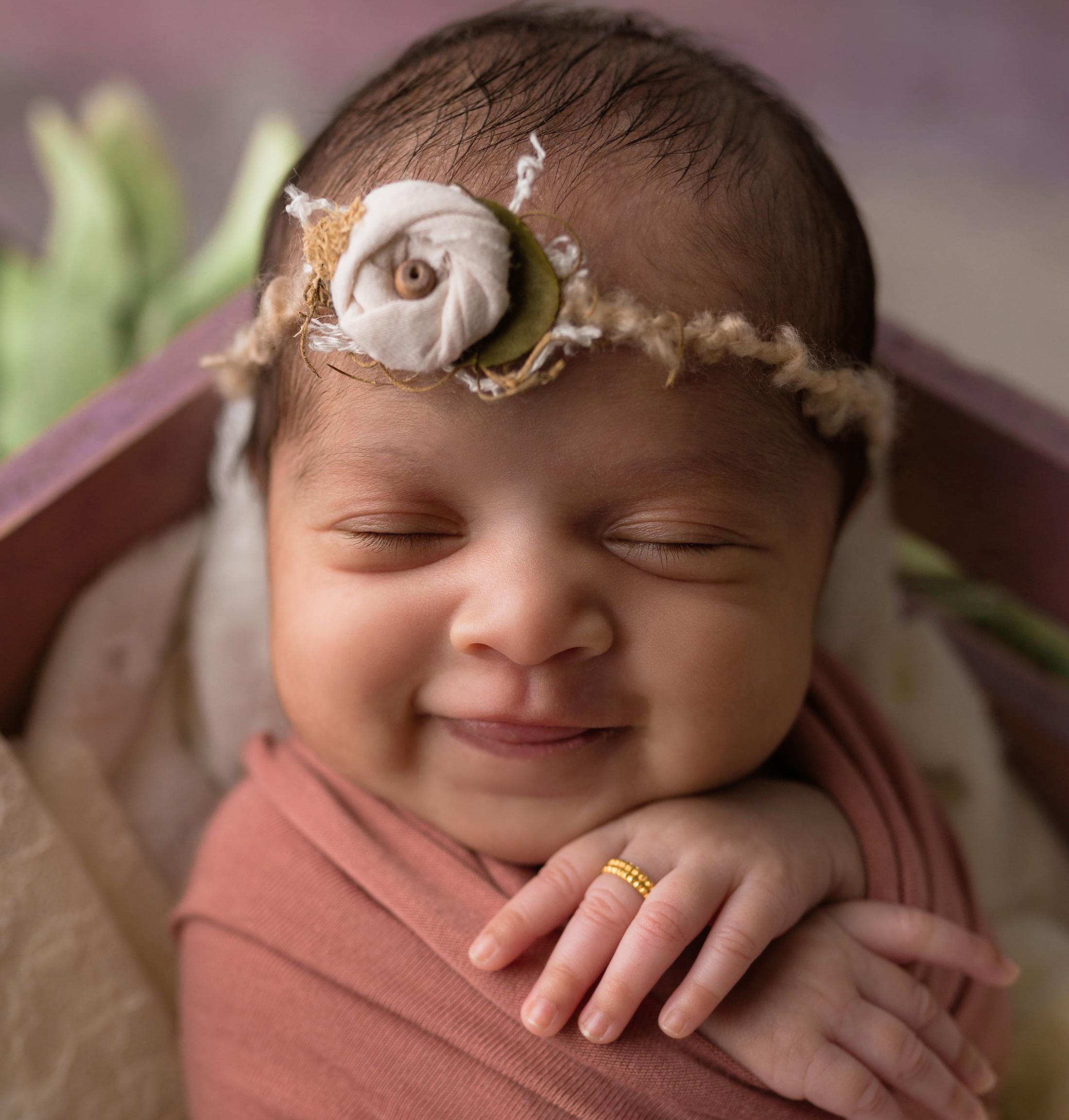 baby girl smile